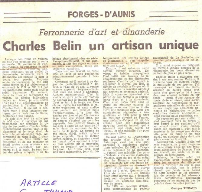 0 0 Charles Belin - Forges