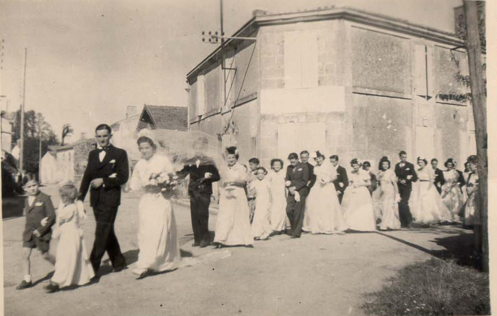 1945 09 01 mariage moinet raymonde et sylvain forges