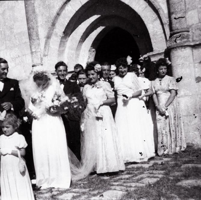1945 09 01 mariage moinet raymonde sylvain forges