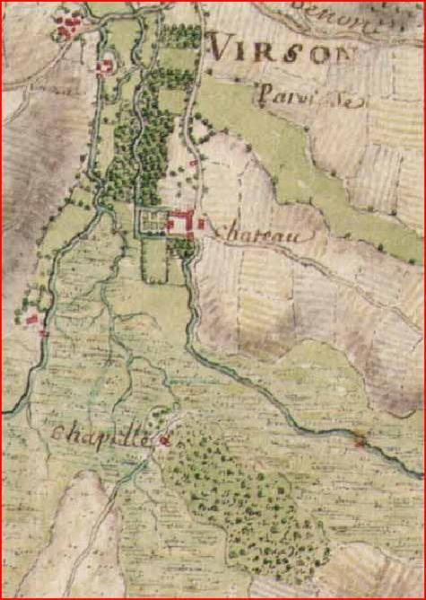 Carte chapelle mandroux masse 11 aout 1703