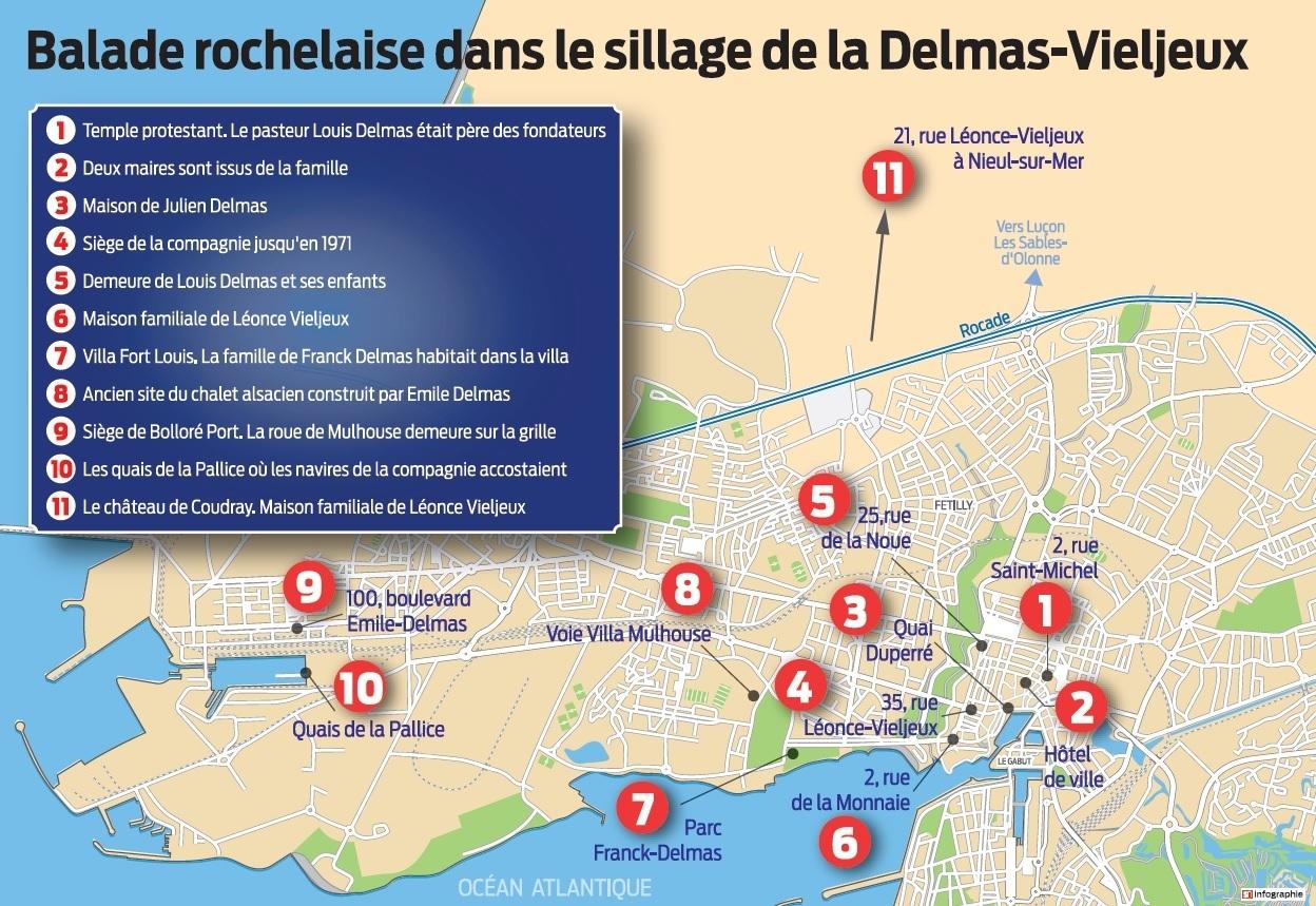 Carte la rochelle delmas