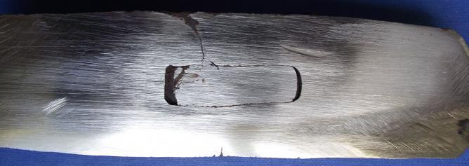 Fig 11 coupe horizontale d un fer a rhabiller