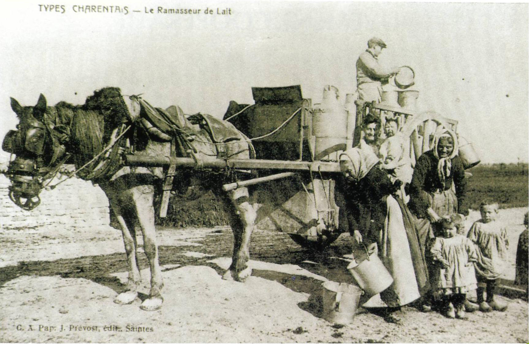 Le collecteur de lait aunis 1920